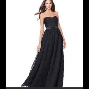strapless adrianna papell black ball gown